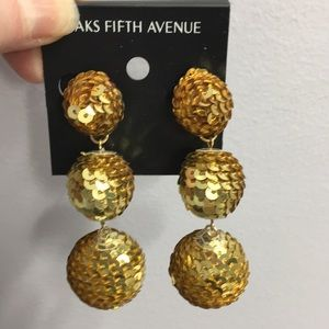 NWT Sequin Drop Earrings.